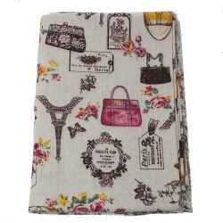 Coupon coton motif Paris 1...