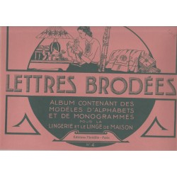 """Livret """"LETTRES BRODEES..."""