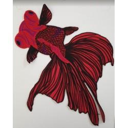 Écusson brodé poisson rouge...