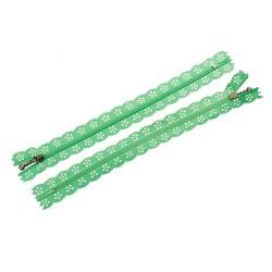 10 Zips dentelle vert...