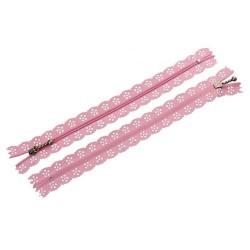 10 Zips dentelle rose 20 cm...