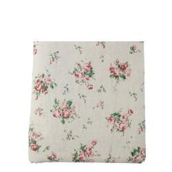 Coupon coton et lin fleuris...