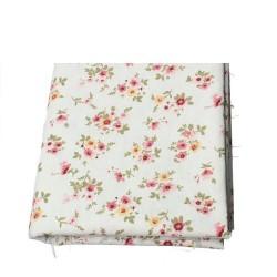 Coupon coton et lin fleurs...