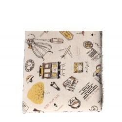 Coupon coton et lin motif...