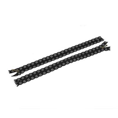 Zip dentelle noir. 20 cm...