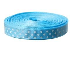 Ruban bleu pois blanc 9 m x...